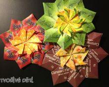 Kytičky z obalů od čajových pytlíčků