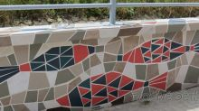 Mozaiková zeď v Brně-Líšni