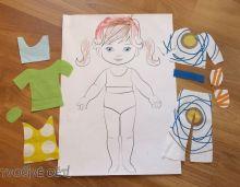 Oblékání panenky - oblečky ze zbytků látek