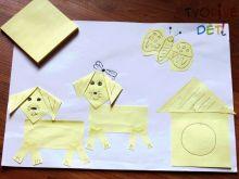 Obrázek z nalepovacích papírků (čtverečky na poznámky)