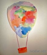 Papírový balón - dekorace na zeď