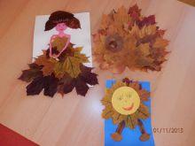 dekorace z listí