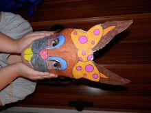 Maska z papíru-zajíček