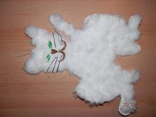 Kočička z vaty a papíru