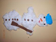 Sněhulák z papíru a vaty