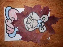 Lvíček z papíru a listí
