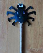 Tvoření čarodějnice, Halloween - Čarodějnická hůlka s pavoučkem