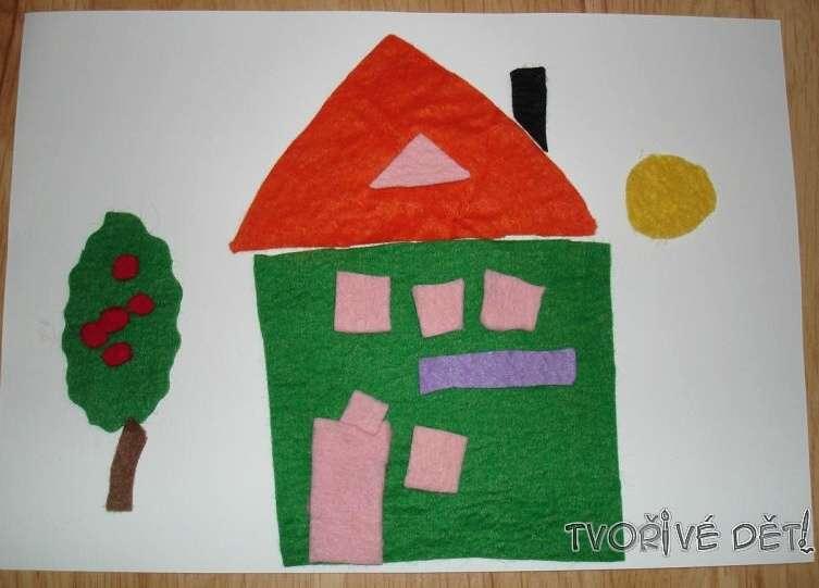 Tvoření s dětmi - Domeček z plsti
