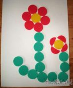 Tvoření z barevných pěnových koleček 1