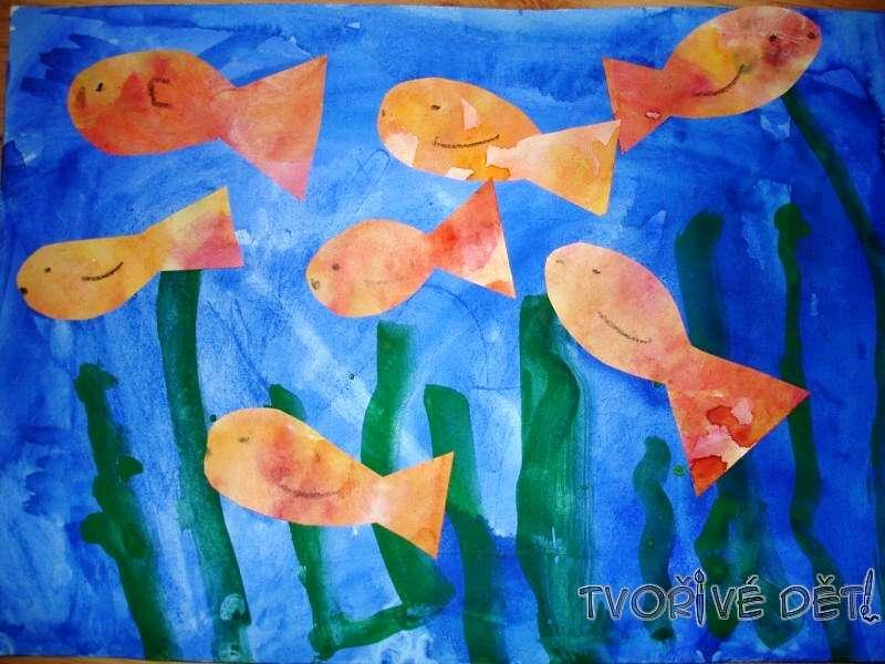 Tvoření z papíru - Rybičky