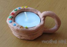 Keramická nádobka na svíčku