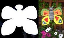 MOTÝLEK - dekorace do květináče, nebo k zavěšení