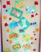 Jarní nástěnka s motýlky