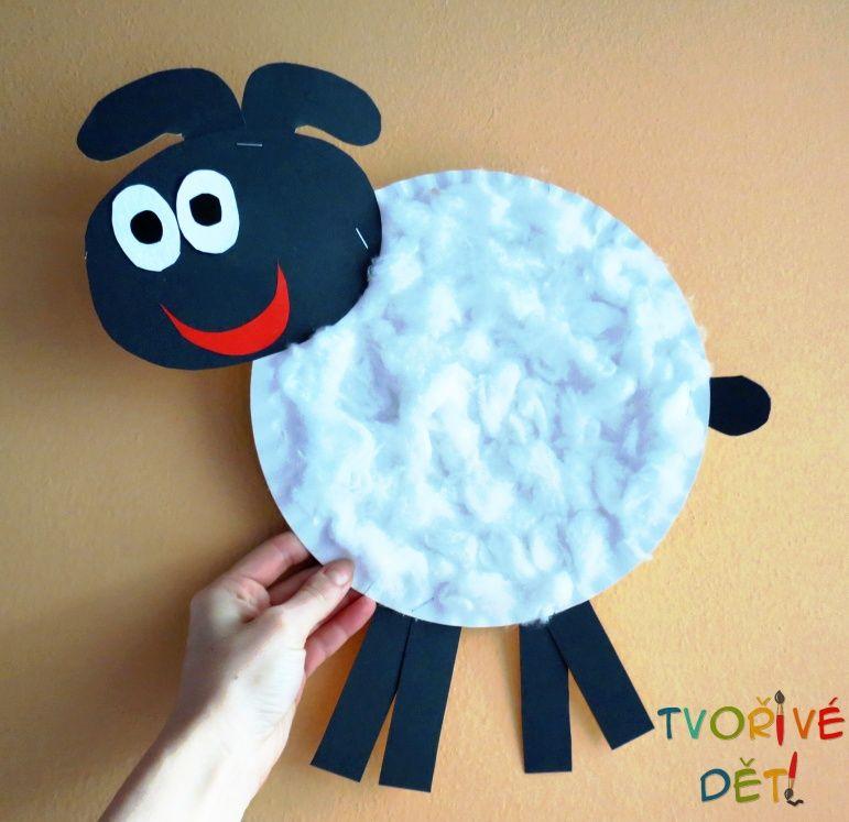 Ovečka z papírového talíře - velikonoční tvoření