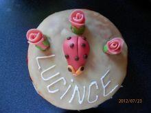 Můj první vlastnoručně vyrobený dortík v životě:-)