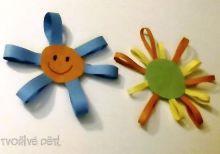 Papírové kytičky, sluníčka...
