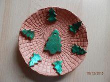 Vánoční talířek z hlíny