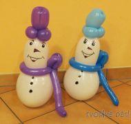 Sněhuláci z balonků