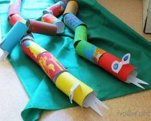 Tvoření s dětmi - had z ruliček od toaletního papíru