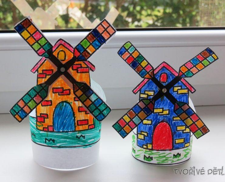 Tvoření s dětmi - mlýn na okno
