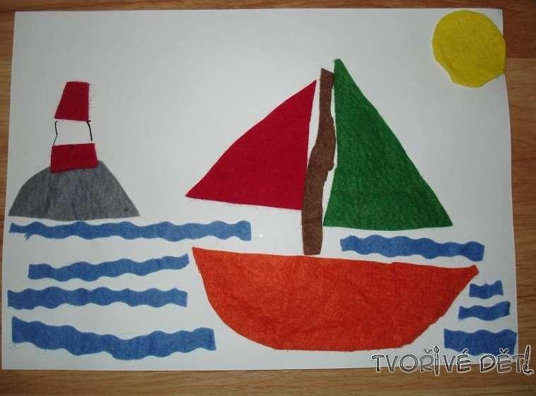 Tvoření s dětmi - tvoříme z filcu - Loď