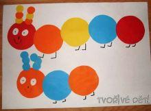 tvoření s papírem - Stonožky
