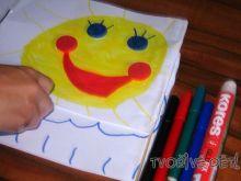 Tvoření z barevných pěnových koleček 2