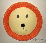 Tvoření z papírových talířů - Lev, Želva