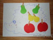 Lepíme ovoce na ježečka