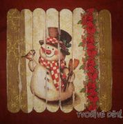 Tvoření ze špachtliček - Vánoční puzzle