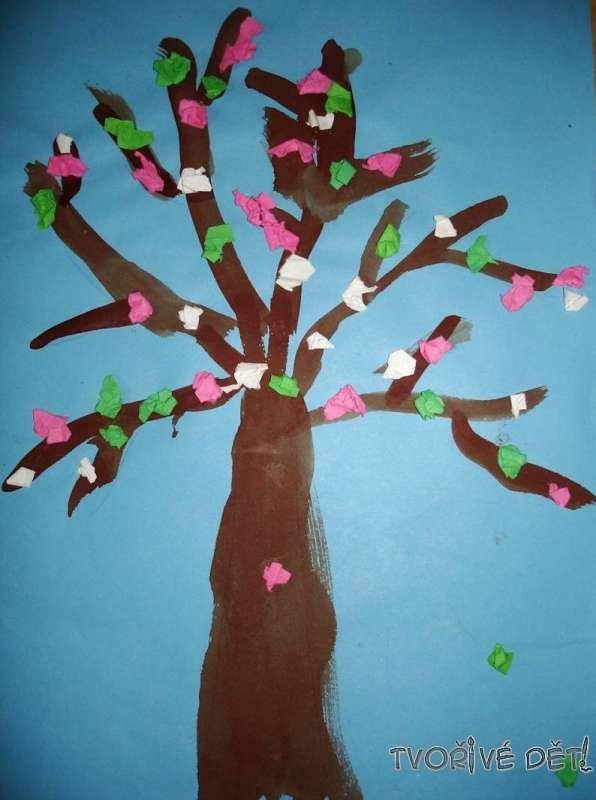 Tvoříme z papíru - Jarní strom