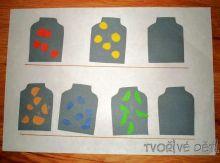 Zavařeniny - procvičujeme motoriku, počítání, barvičky